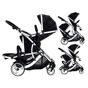 DUELLETTE 21 BS Twin Double Pushchair Tandem Stroller Buggy 2 Seat Units Compatible With Kids