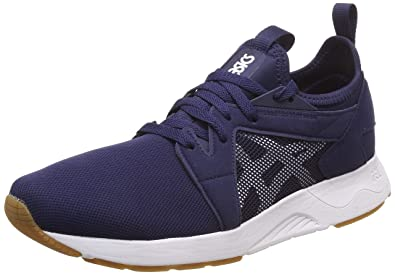 b05ae2e74bca3b ASICS Tiger Men's Gel-Lyte V Rb Peacoat and White Sneakers-10 UK/