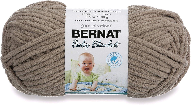 Single Ball Machine Wash /& Dry Pitter Patter 6 Super Bulky Gauge 3.5oz Bernat Baby Blanket Yarn -
