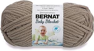 Bernat Baby Blanket Yarn, 3.5 oz, Gauge 6 Super Bulky, Sand Baby
