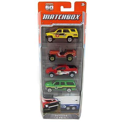 Hot Wheels C1817 Matchbox Car Assortment 5 Count: Toys & Games
