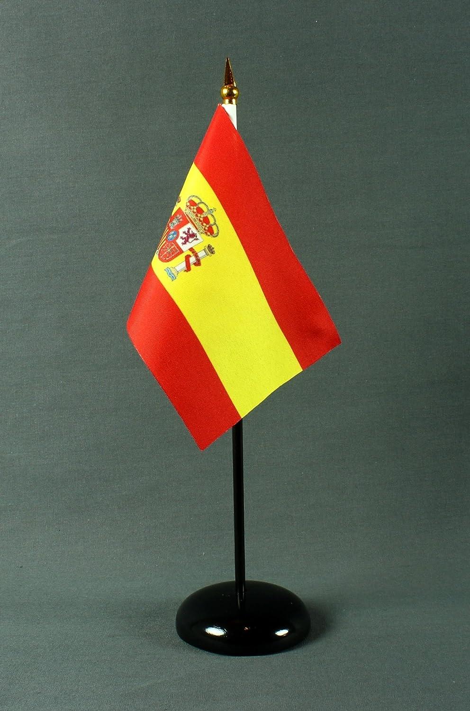 Bandera de mesa 15 x 10 cm (S) de la bandera de España con mesa ...