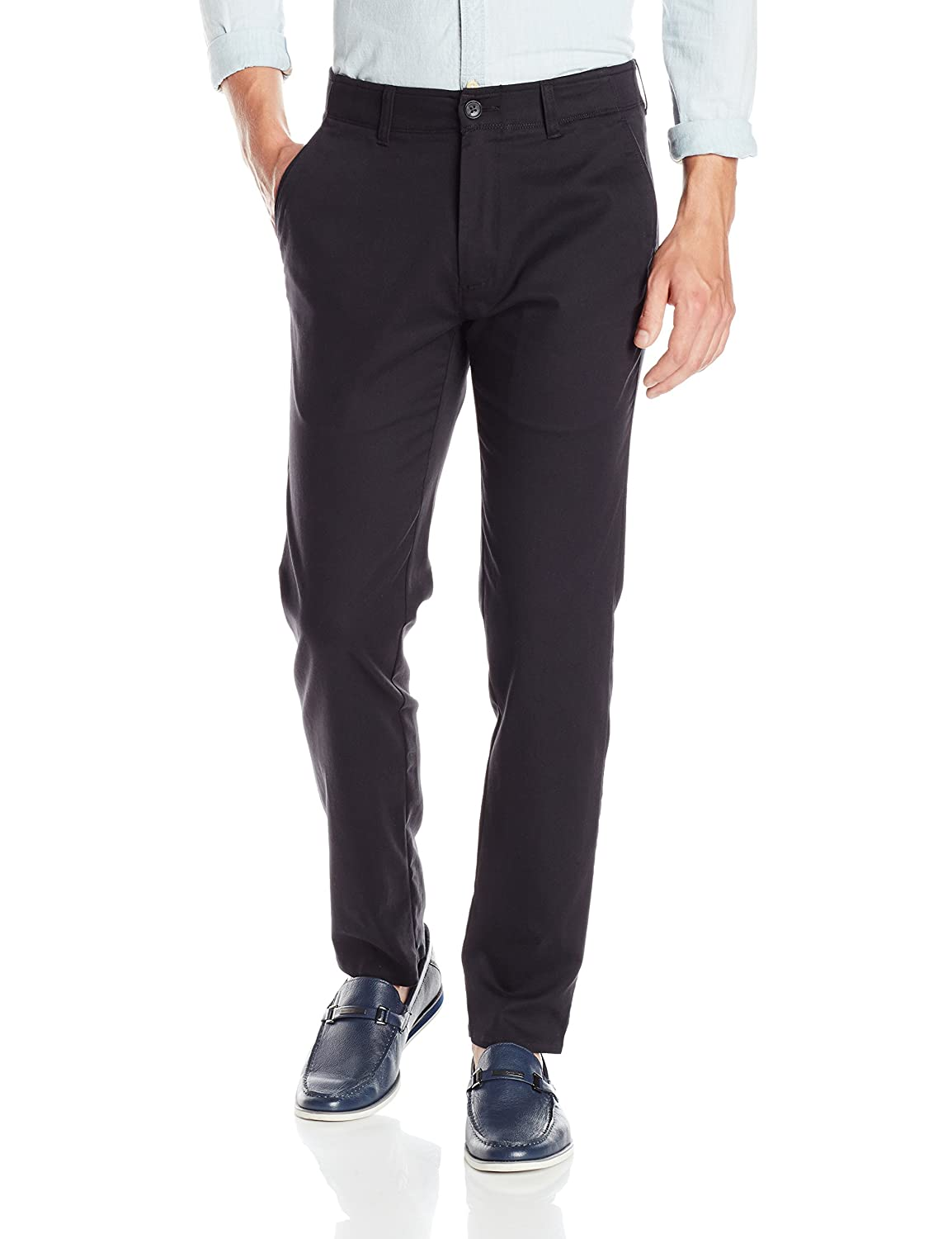Haggar Mens In Motion Rambler Slim Fit Flat Front Athleisure Casual Pant