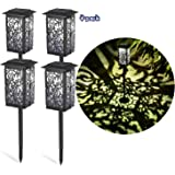 Ambaret Upgrade Solar Path Outdoor Lights, Garden Lights Sun Powered Decorative Landscape Lighting Security Waterproof Auto O