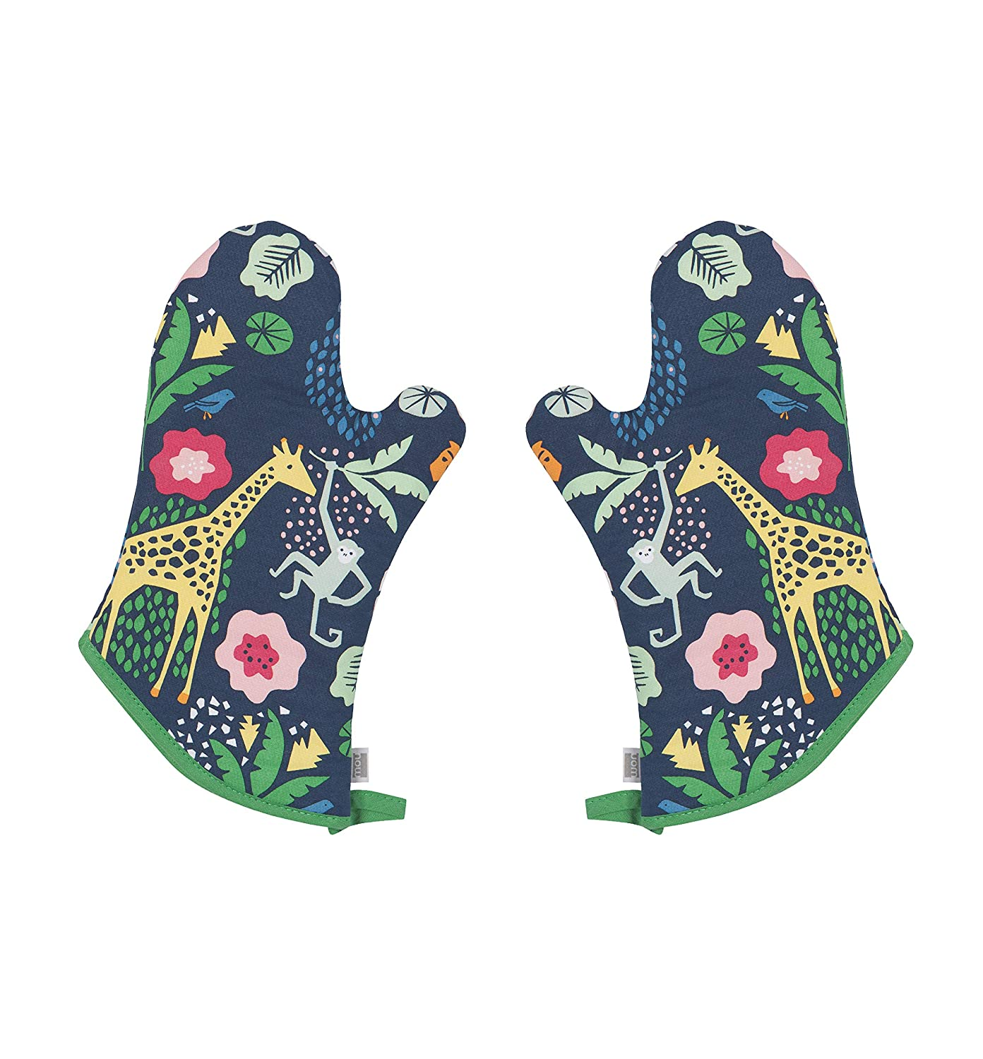 Now Designs Oven Mitts Basic, Wild Bunch Print