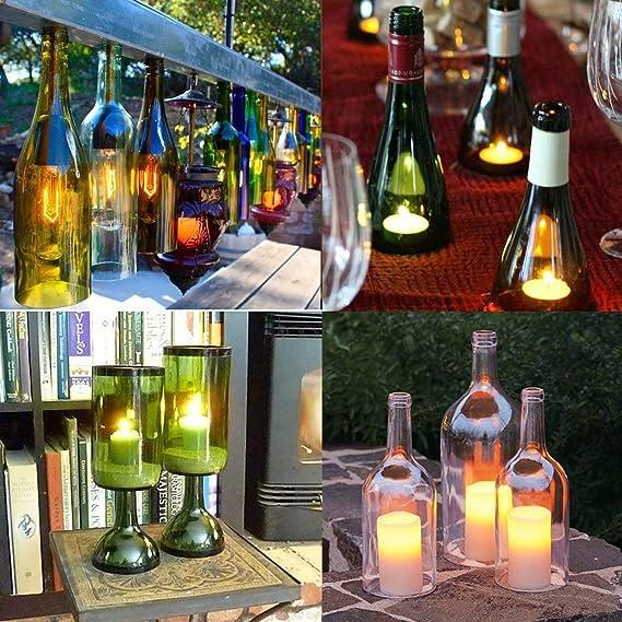 Kit de cortador de botellas de cristal Genround [versión 1.1], cortador de botellas de cerveza, botella de vino, cortador de botellas de cristal, ...