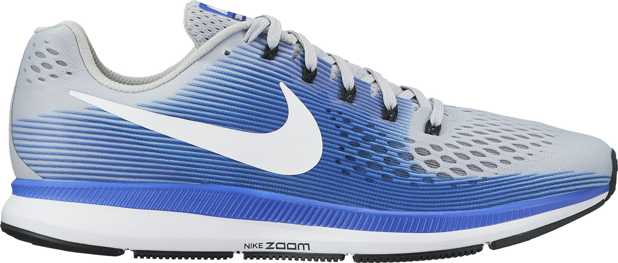 feb22cafc171b Nike Men's Air Zoom Pegasus 34 Running Shoe Wide (4E) Wolf Grey/White/Racer  Blue Size 13 Wide 4E