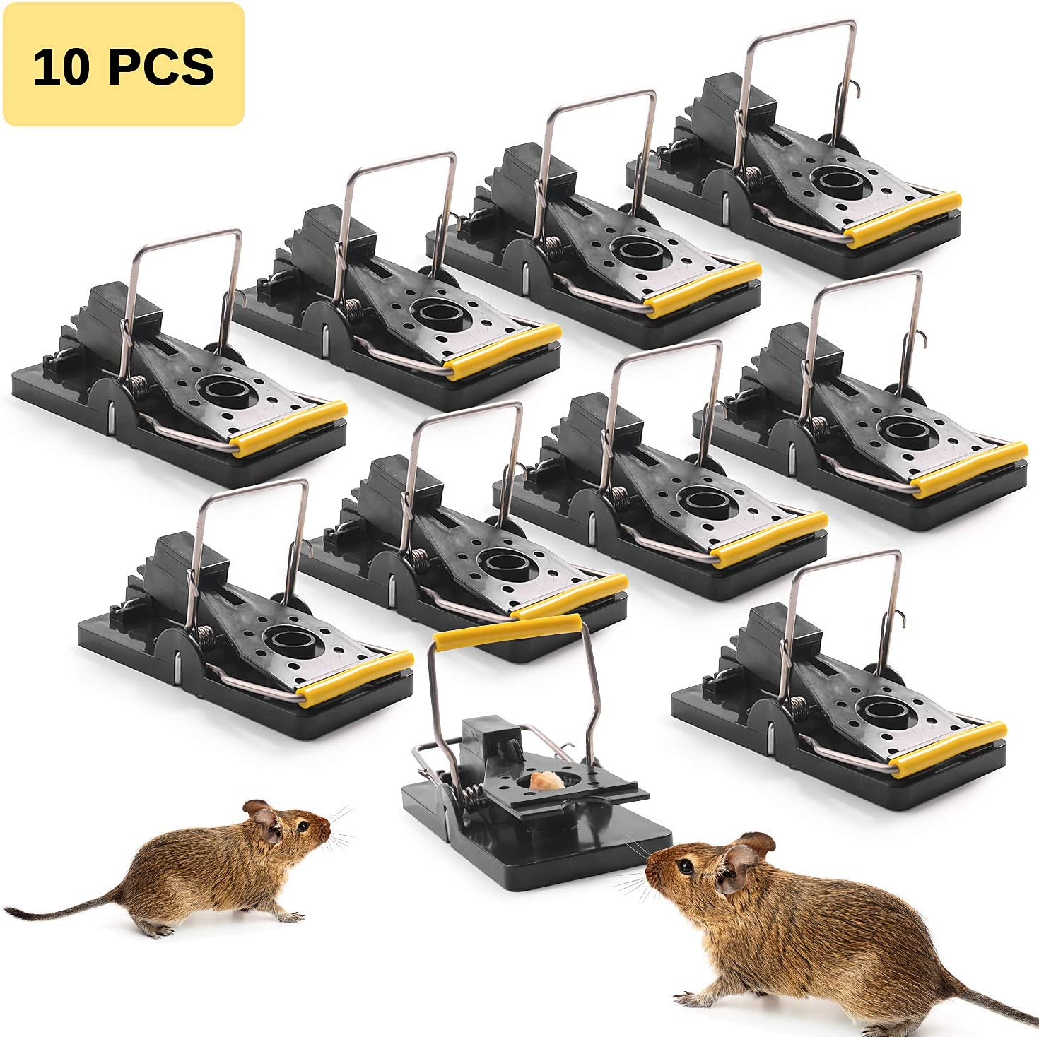 Ulikey 10 Pcs Trampas para Ratones, Reutilizable Trampa Ratones, Trampa de Ratón Trampa Profesional para Ratas, Alta sensibilidad Respuesta Rápida Seguro Efectivo