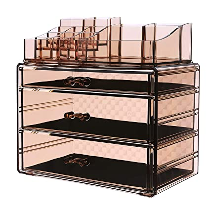 Charmant SONGMICS Makeup Organizer 3 Large Drawers Cosmetic Jewelry Storage Display  Boxes With 14 Top Compartments 2