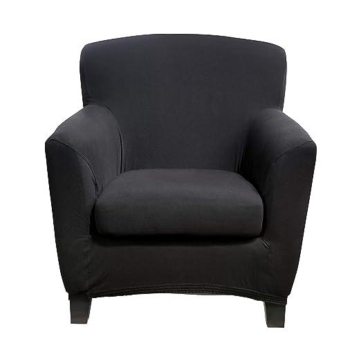 Bellboni Funda de sofá sillón, sillón Lounge, Funda para sofá, Funda Estirable bi-elástica, Funda elástica para Muchos Tipos de sillón comunes, Negro