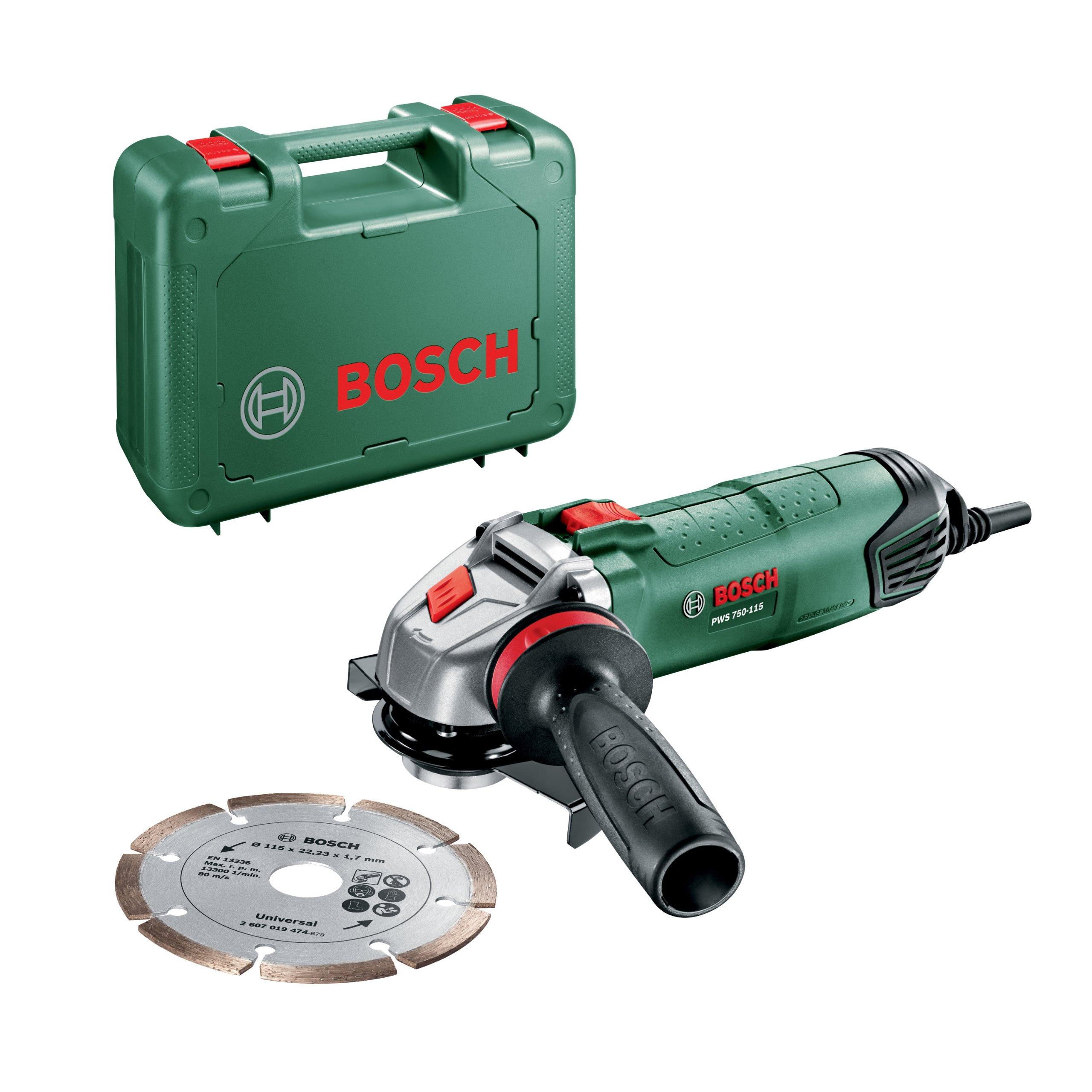 Bosch PWS 750-115 Smerigliatrice Angolare, Sistema Dust Protection, Valigetta product image