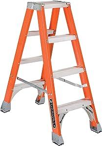 Louisville Ladder FM1504 Fiberglass Twin Front Ladder, 4-Feet, 300-Pound Duty Rating