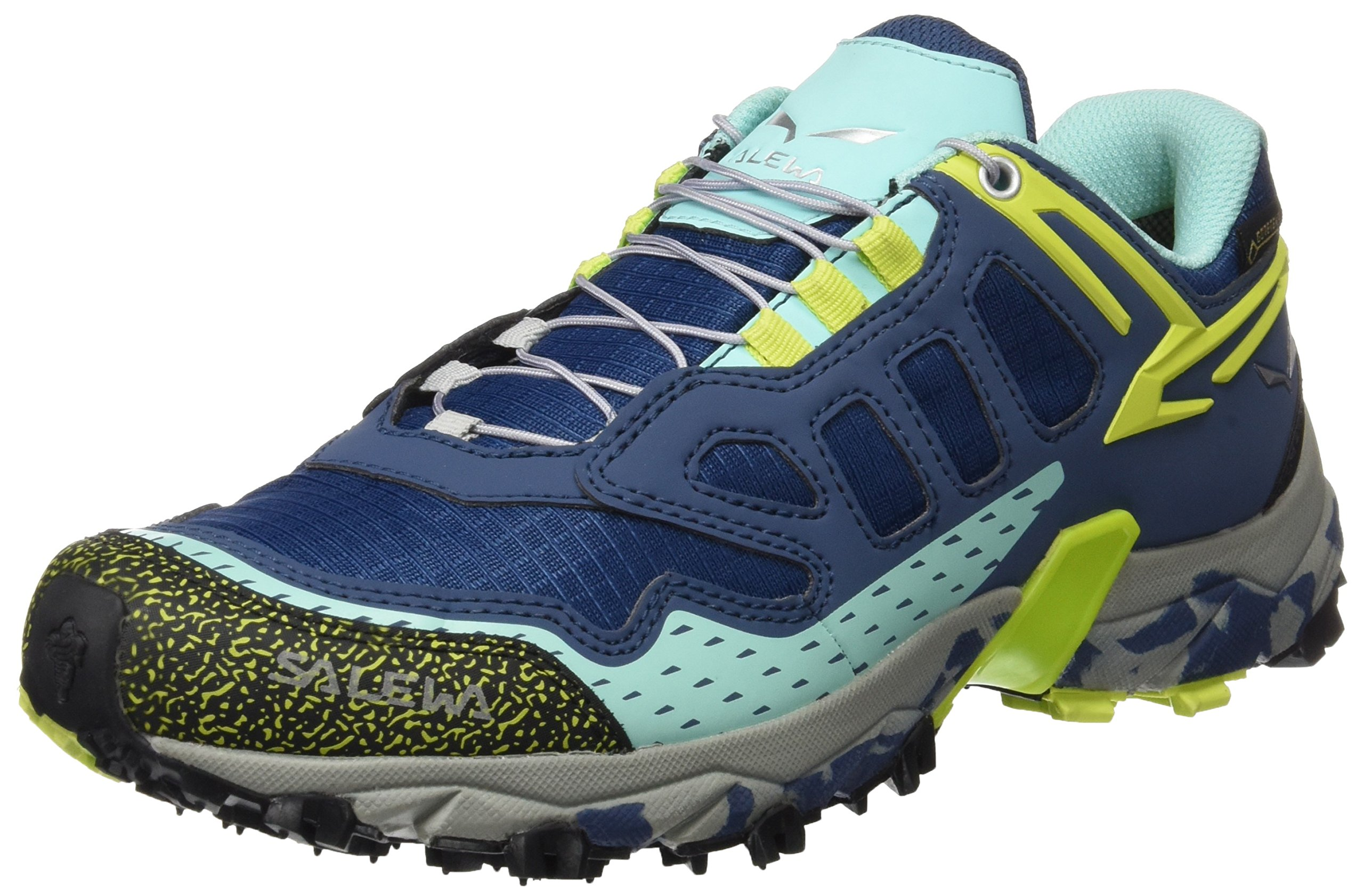 Salewa Women's Ultra Train GTX-W Trail Running Shoe, Dark Denim/Aruba Blue, 9 B(M) US