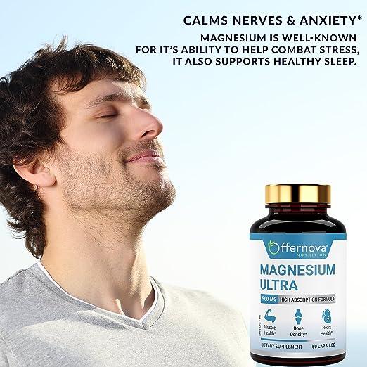 Amazon.com: Citrato de Magnesio - Capsulas de Citrato de Magnesio 500 mg -: Health & Personal Care