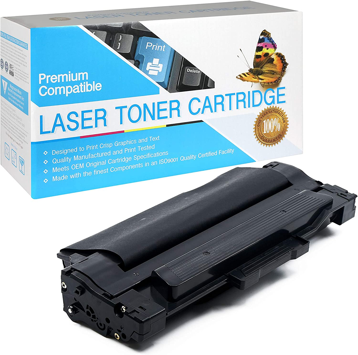 Black,1 Pack SuppliesOutlet Compatible Toner Cartridge Replacement for Samsung MLT-D105L for Use with SF-650P