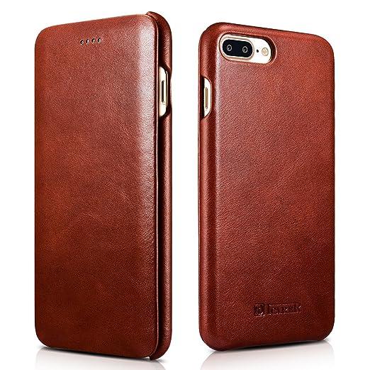 5 opinioni per ICARER iPhone 7 Plus / iPhone 8 Plus Custodia , Retro PU pelle Case con Ultra