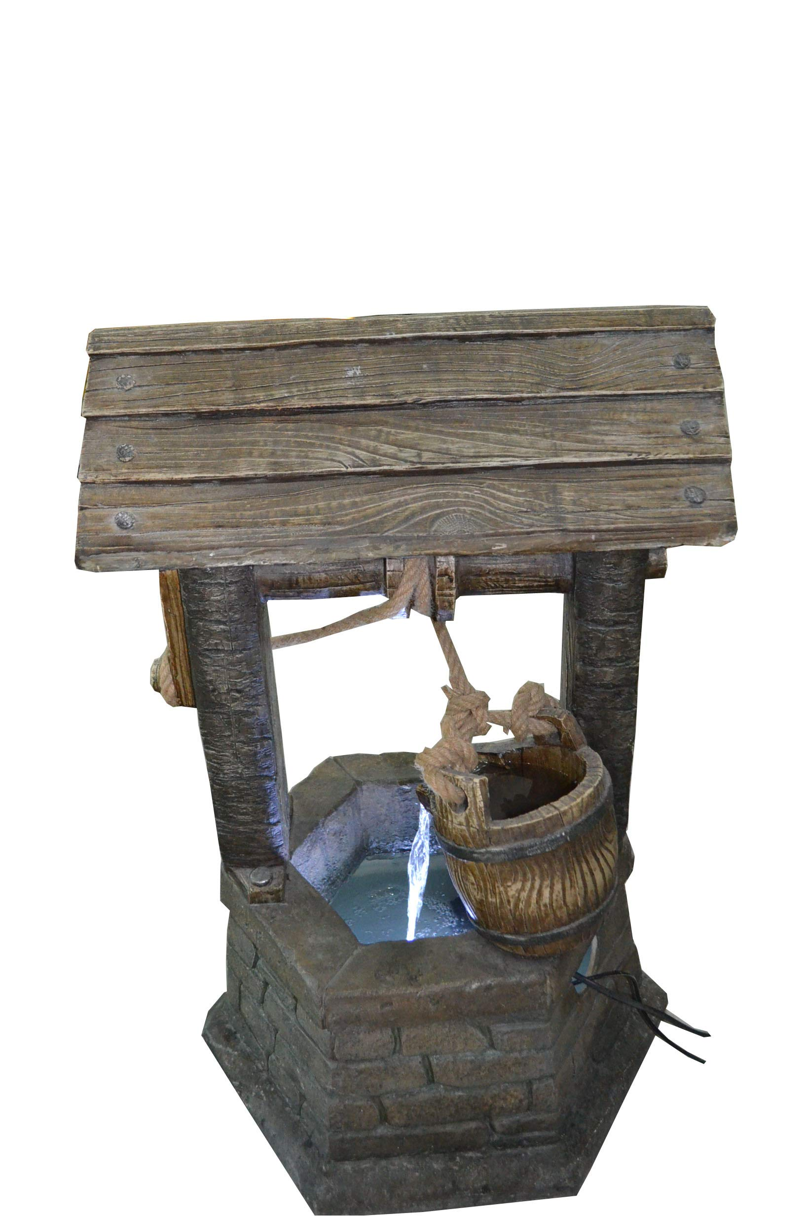 Hi-Line Gift Ltd Fountain- Wishing Well with Pouring Bucket & LED Light by Hi-Line Gift Ltd. (Image #4)