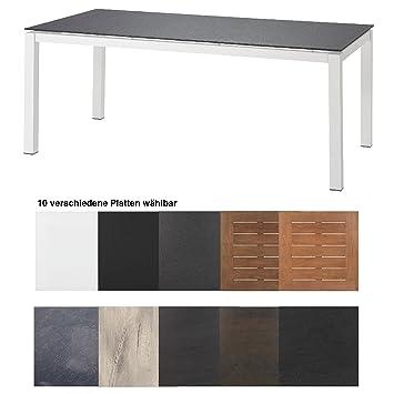 Hartman Tisch Imperial 180 X 90 Cm Aluminium Weiss Tischgestell