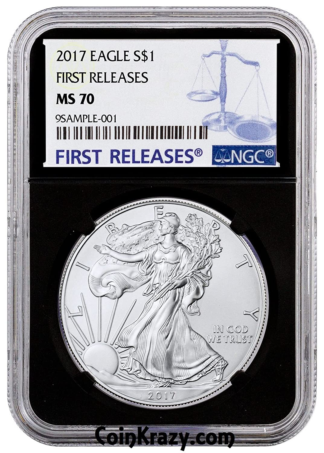 2017 American Silver Eagle Early Releases NGC MS70