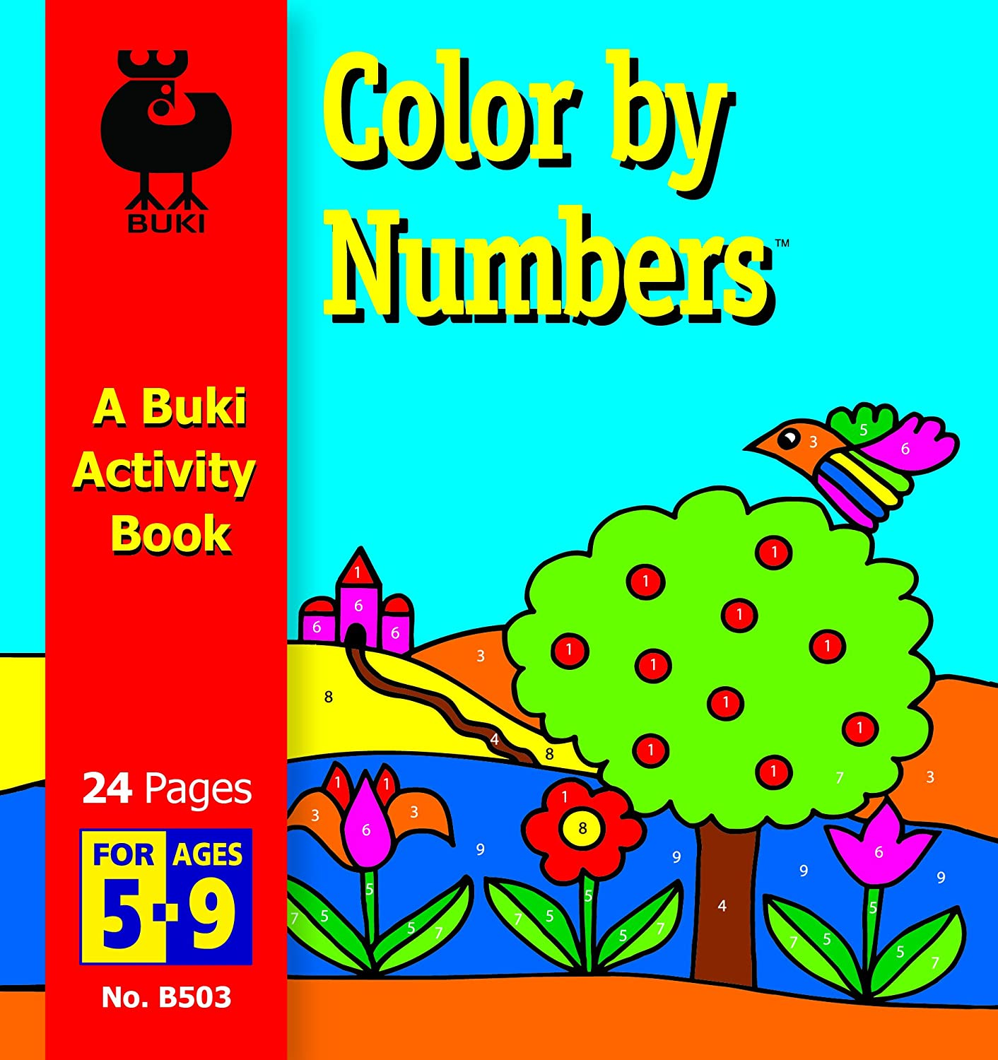 Amazon.com: Buki Small Activity Book COLOR BY NUMBERS (B503): Toys ...