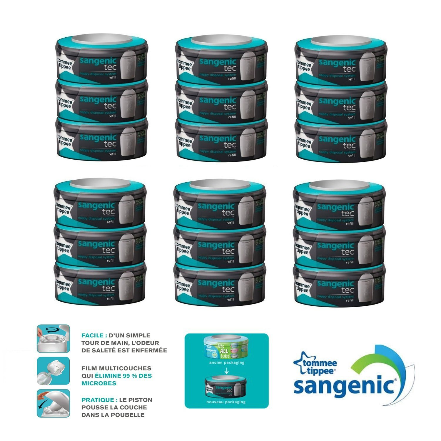 Multipack recharges Tec X18 - Sangenic product image