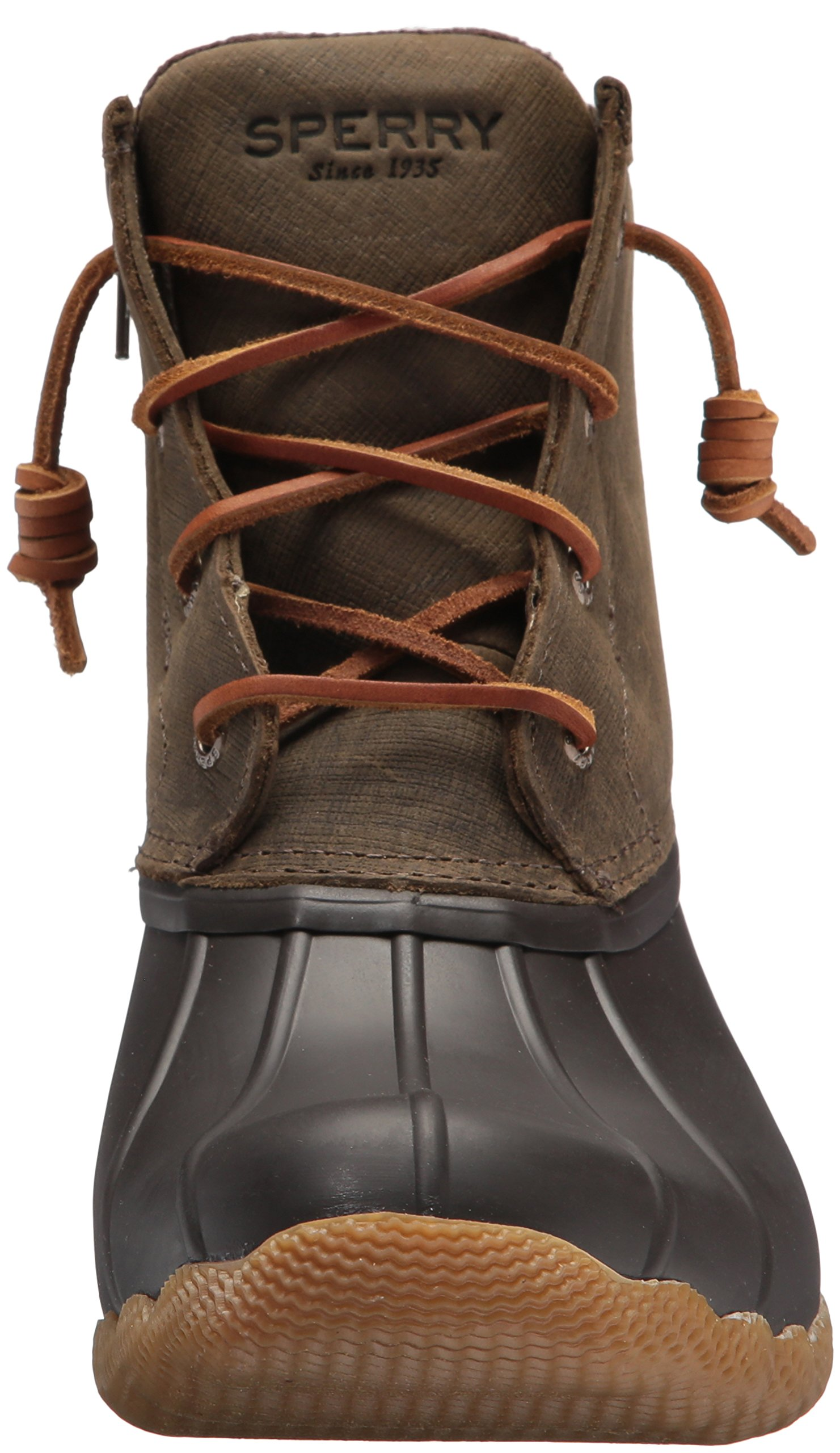 Sperry Top-Sider Women's Saltwater Rain Boot, Brown/Olive, 11 Medium US by Sperry Top-Sider (Image #4)