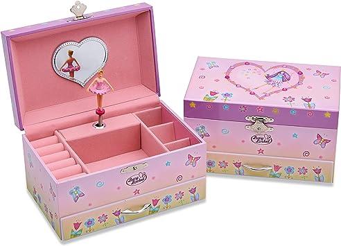 Joyero infantil musical de hadas de Lucy Locket - Caja musical rosa brillante para niños con soporte para anillos: Amazon.es: Juguetes y juegos