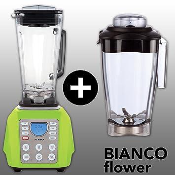 Bianco Forte - Batidora Bianco Forte con vaso Bianco Flower y libro de recetas [puede