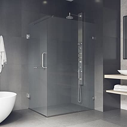 vigo pacifica 36 x 48 in frameless shower enclosure with 375 in