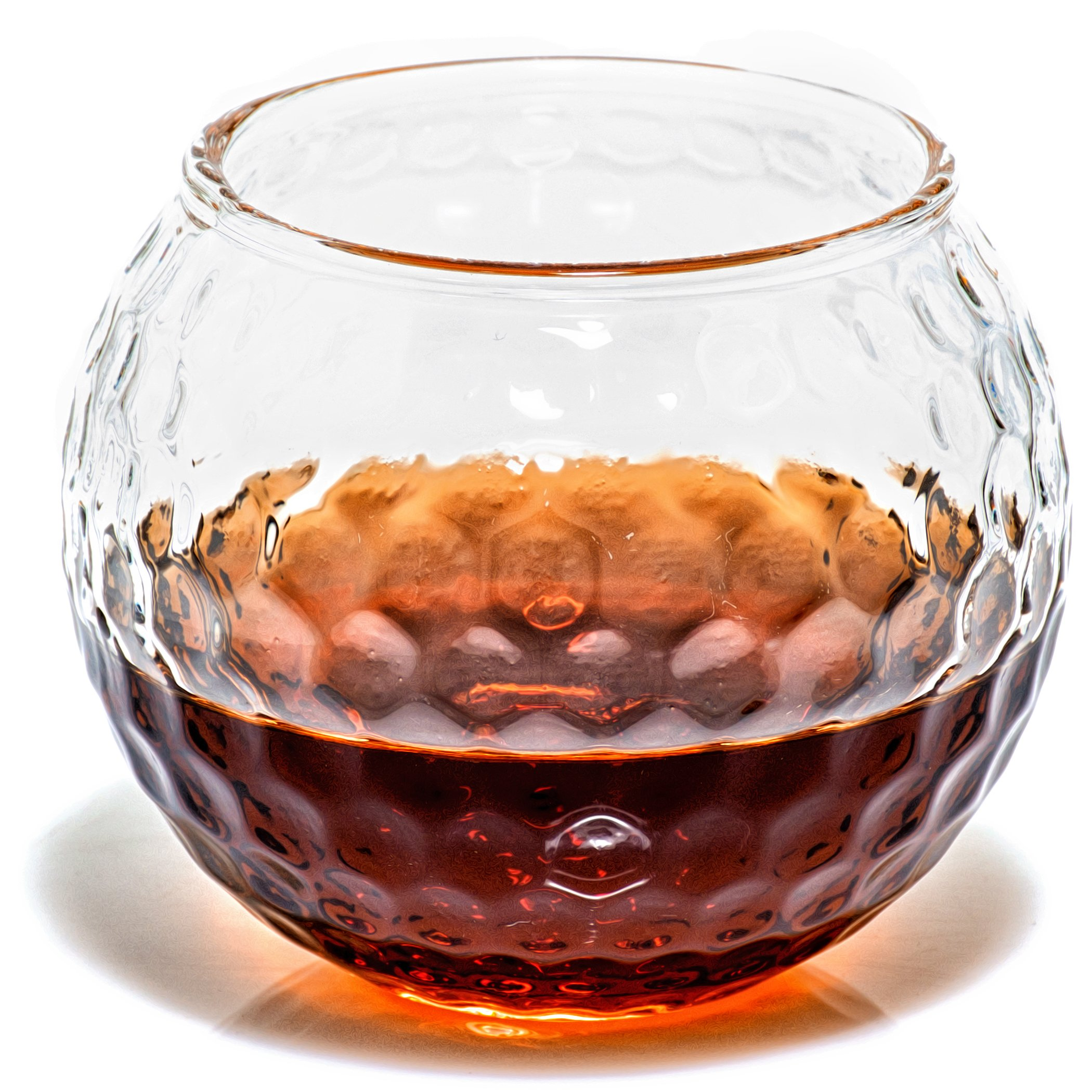 Golf Whiskey Glass – 10 oz Unique Golf Ball Shaped Rocks Glass (other designs available) for Bourbon, Scotch, Brandy - Old Fashioned/Rocks Glasses from Prestige Decanters (Set of Two - Golf Ball)
