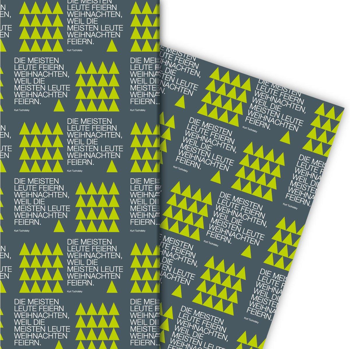 Edles Designer Weihnachts Geschenkpapier Set (4 Bogen)   Dekorpapier ...