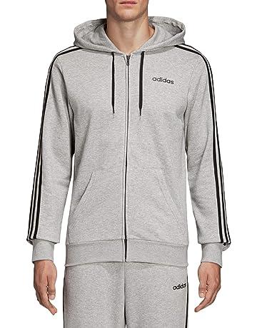 4dc31fb88d adidas Mens' Essentials 3-stripes Full Zip Hooded Tracksuit Jacket