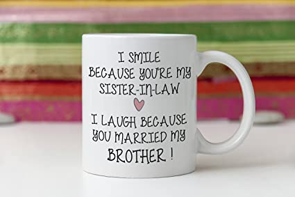 Amazon Sister In Law Mug Sister In Law Gift Gift For Sister