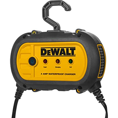 DEWALT DXAEWPC4 Fully Automatic 4 Amp 12V Waterproof Battery Charger/Maintainer with Cable Clamps: Automotive