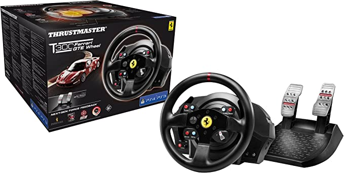 Thrustmaster T300 Ferrari GTE Official Force Feedback wheel (PS4 ...