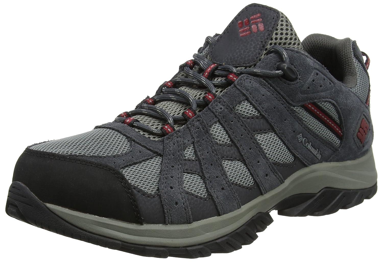 Columbia Canyon Point Waterproof, Zapatillas de Senderismo para Hombre 43 EU|Negro (Black, Squash 011)