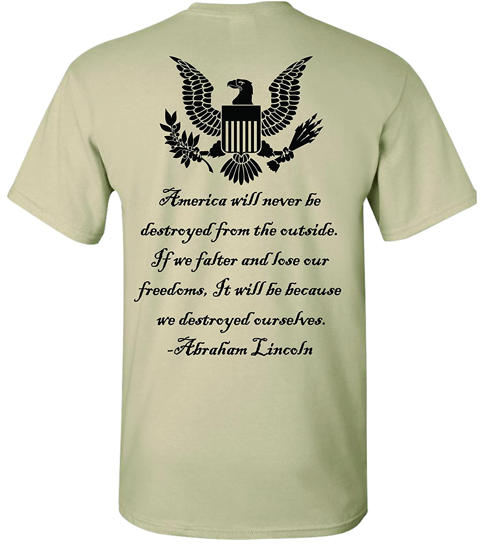 Amazon Patriot Apparel 2nd Amendment Eagle Abraham Lincoln T