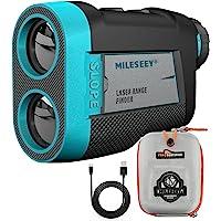 Mileseey Telemetro Golf con Ventosa Magnética, Telémetro de Golf 600m con Marcadores de Bloqueo y Vibración, Interruptor…