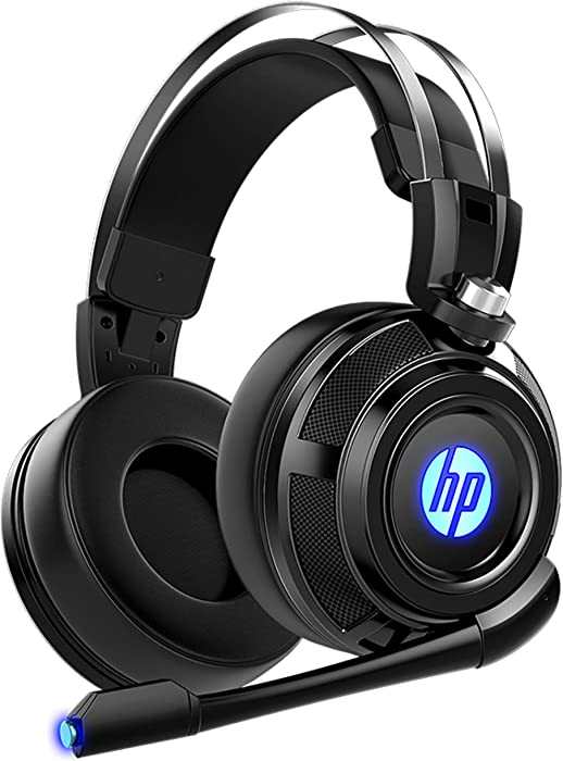 HP Wired Stereo Gaming Headset with mic, for PS4, Xbox One, Nintendo Switch, PC, Mac, Laptop, Over Ear Headphones PS4 Headset Xbox One Headset and LED Light