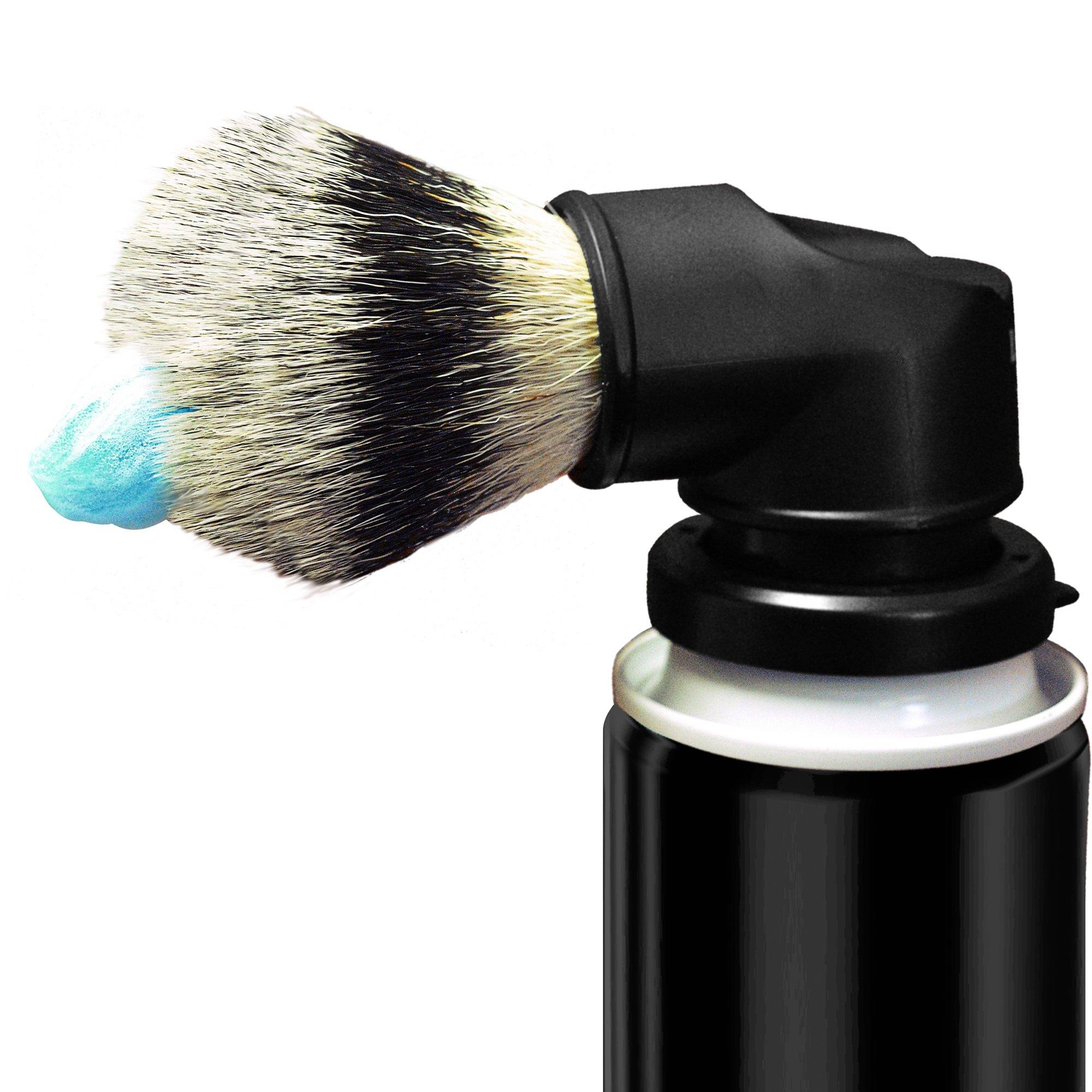 Legacy Shave - Evolution Brush - Universal Shaving Brush Engineered to Attach Directly to Shaving Cream or Shaving Gel Cans - Best Razor Wet Shave Brush for Men & Women - Black
