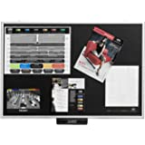 Justick JL-500 Justick Lite Electro Adhesion Bulletin Board, standard aluminum frame, 24 x 36 inches, Black