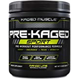 Pre Workout Powder; Kaged Muscle Pre-Kaged Sport Pre Workout For Men And Women, Increase Energy, Focus, Hydration, and Endura