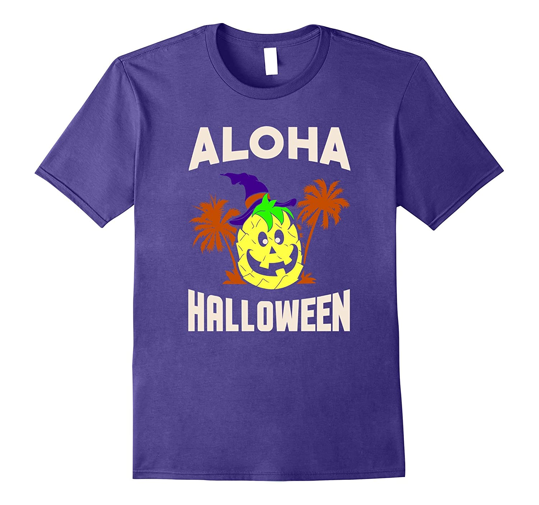 Aloha Halloween Pineapple Jack-O-Lantern Pumpkin T Shirt-T-Shirt