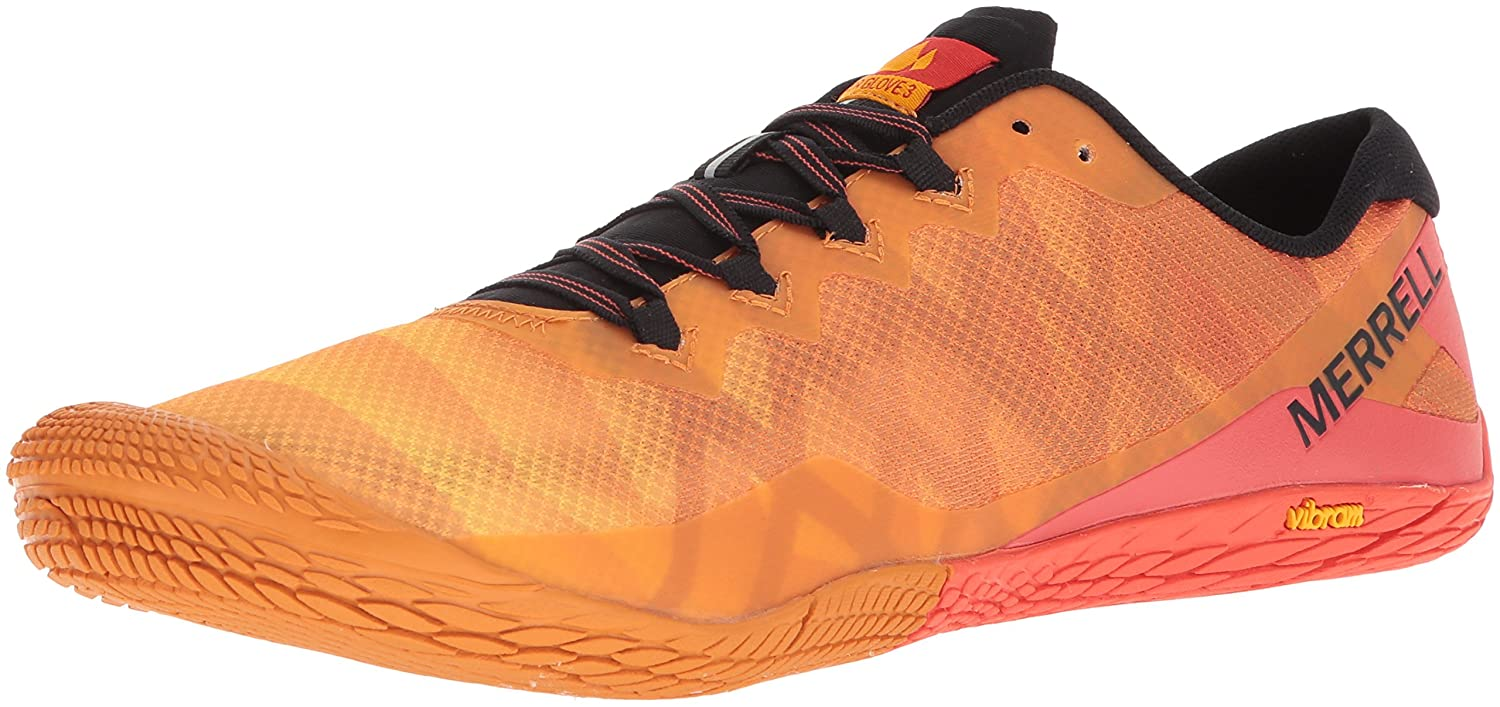Merrell Mens Vapour Glove 3 Trail Running Shoes Trainers Sneakers Black Orange