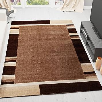 VIMODA Designer Teppich Wohnzimmer Modern Bordüre Muster Gestreift ...