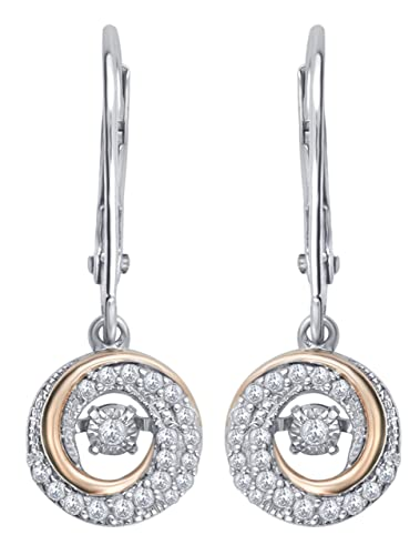 514f8b38db78d Amazon.com: 1/4 cttw Dancing Diamond Earring in Sterling Silver: Jewelry