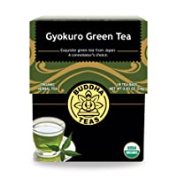 Organic Gyokuro Green Tea – 18 Bleach-Free Tea Bags – Energizing Tea with Caffeine, Invigorating and Stimulating Coffee Alternative, Rich in Nutrients, Kosher, GMO-Free