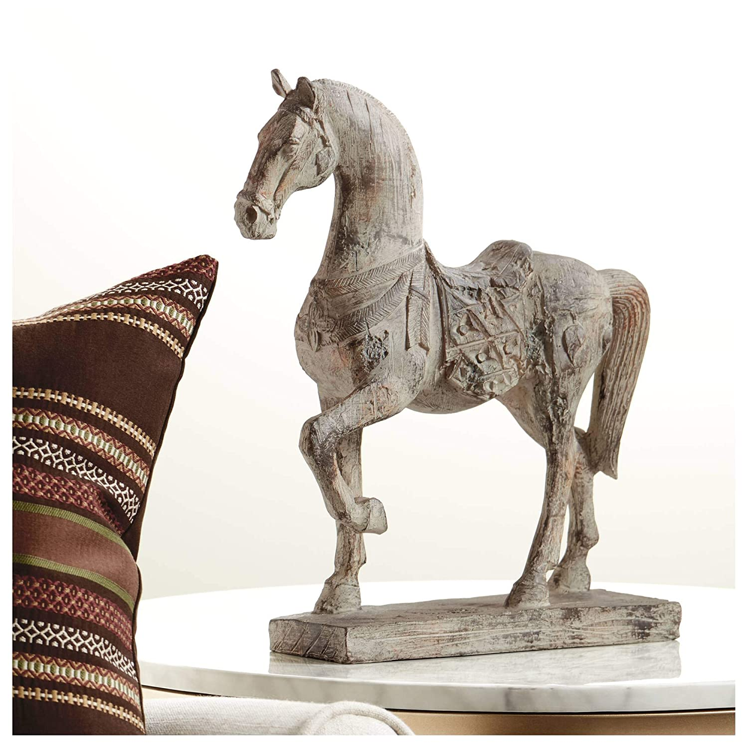 "Kensington Hill Rustic Horse 15 1/4"" High Statue"