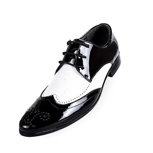 Robelli - Mocasines de Charol para hombre negro negro, color negro, talla 41.5: Amazon.es: Zapatos y complementos