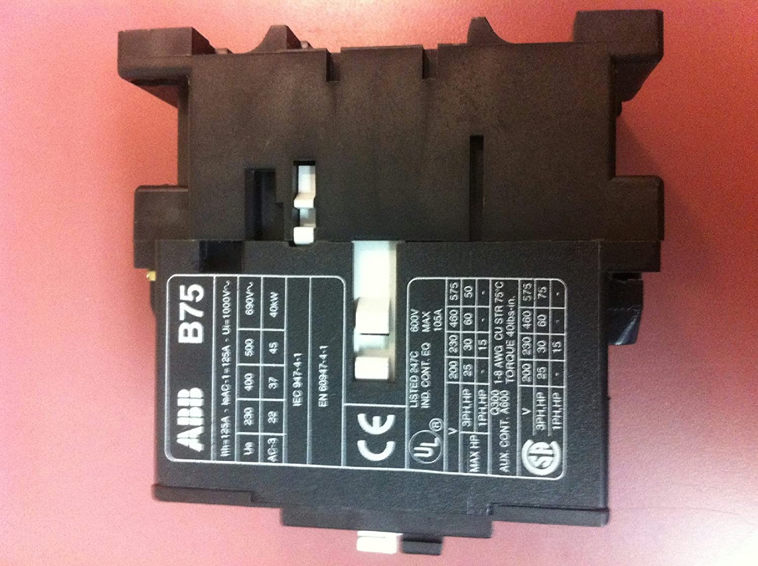 ABB B BC  AMP  VAC  HP V Coil Contactor Amazon - Abb basic relay school